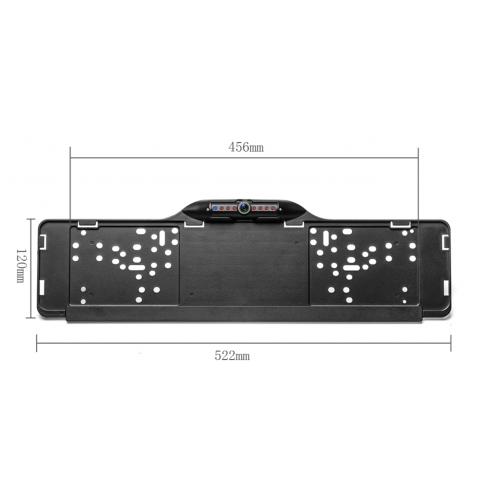 Parkovací kamera v podložce pod SPZ s IR nočním viděním