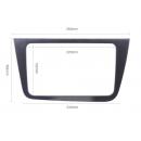 Rámeček Seat Altea 2004+, plastový, stříbrné  barvy pro multimediální autorádia.