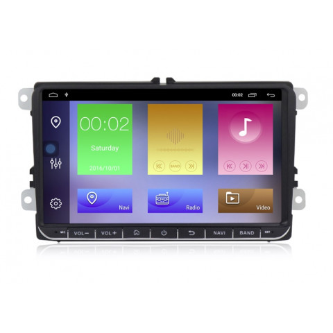 VW 9 Autorádio Android 10 s GPS navigací a WiFi
